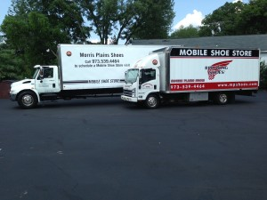 2013: Our two brand new additions to our shoe mobile fleet.